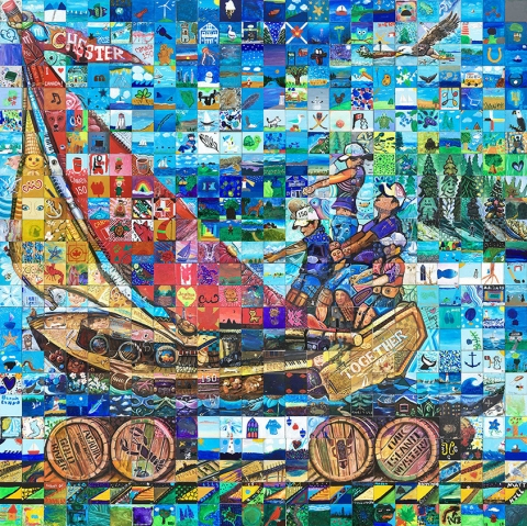 mosaic mural completed municipality of the district of chester